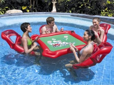 Pływający zestaw do gry w pokera