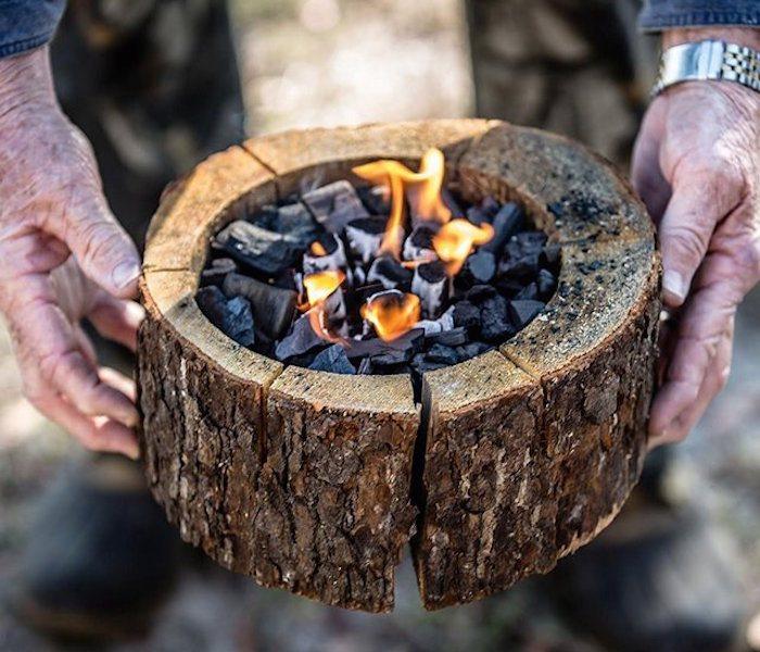 Naturalne przenośne ognisko - Burnie