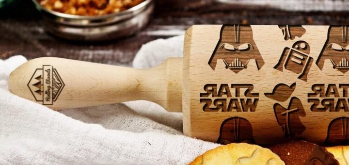 Grawerowany wałek do ciasta Star Wars