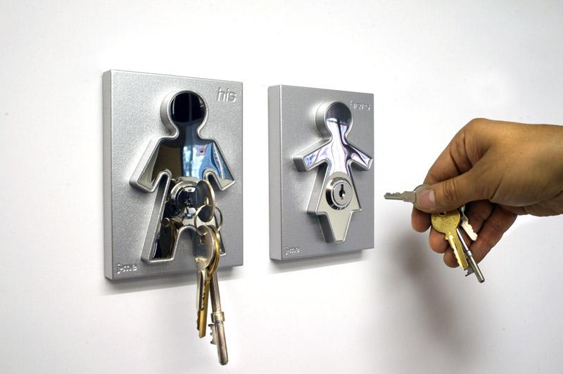 Wieszak na klucze His & Hers