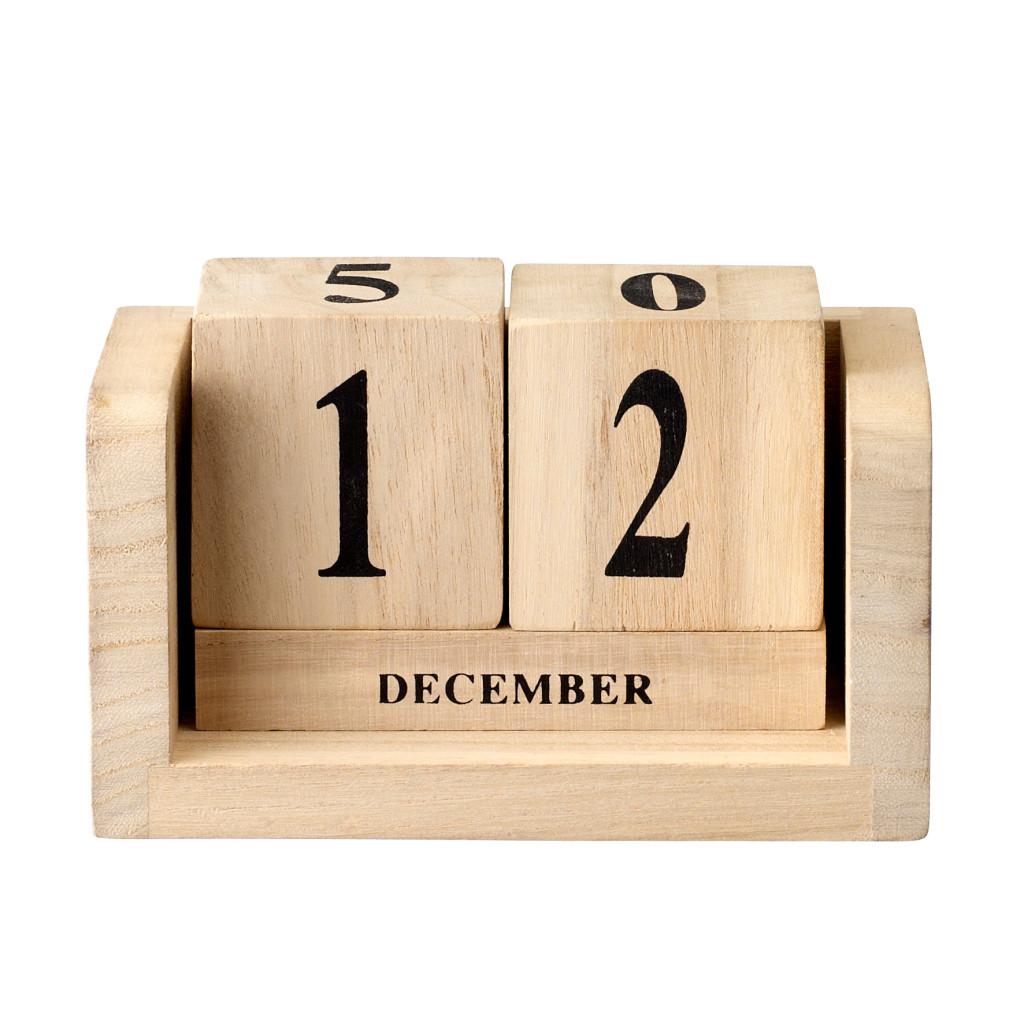 Kalendarz drewniany kostki od Bloomingville
