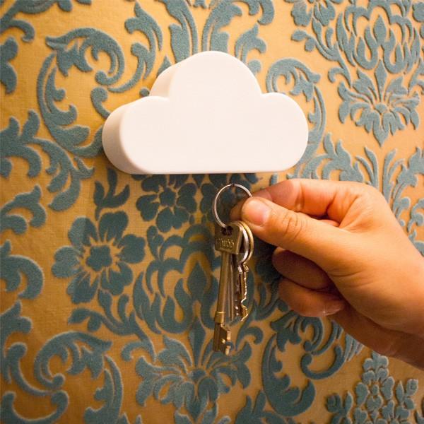 Magnetyczny wieszak na klucze - chmurka