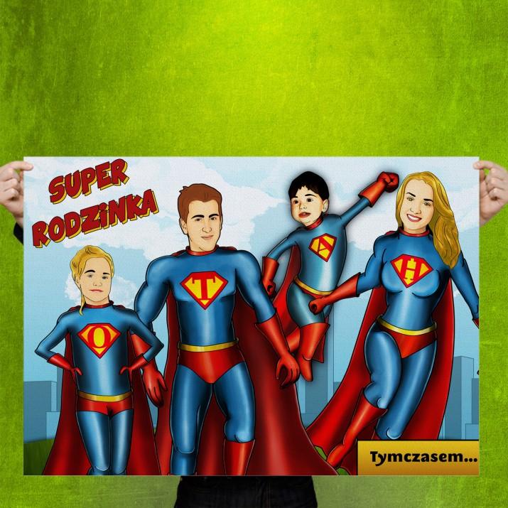 Obraz na płótnie - Super rodzinka
