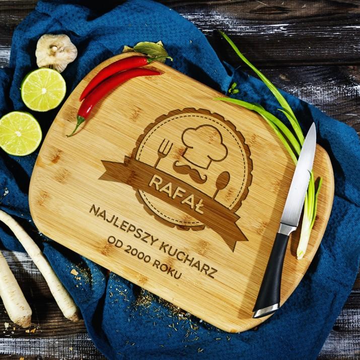 Deska do krojenia z grawerem - Najlepszy kucharz