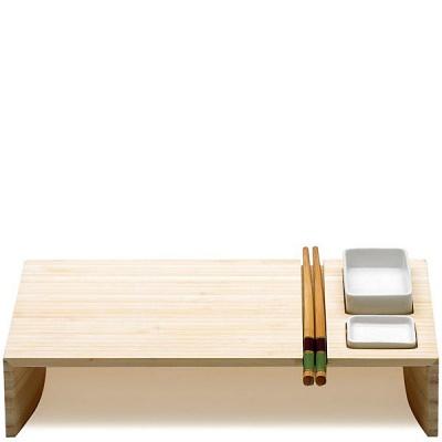 Zastawa do sushi: miseczki i pałeczki KOBE Legnoart