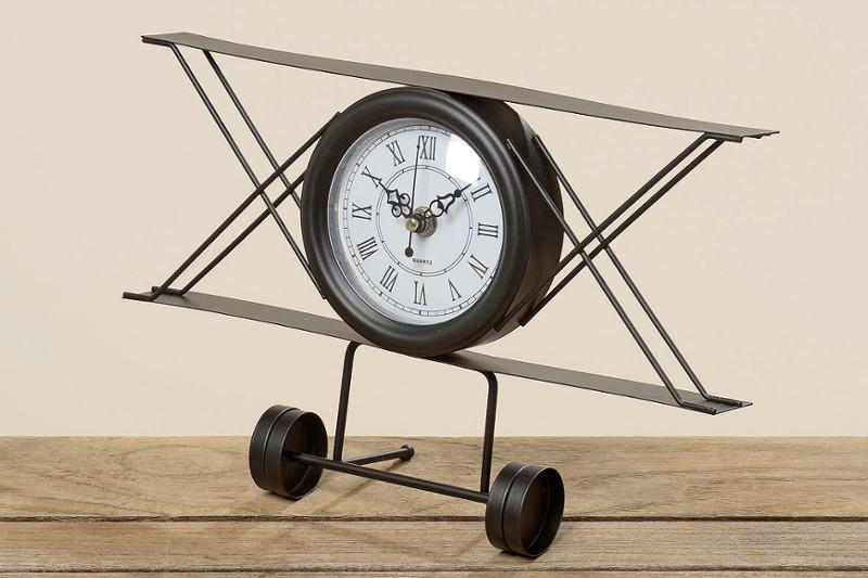 Zegar samolot - stojąca dekoracja