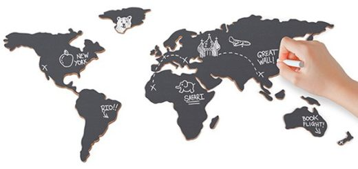 Tablica mapa świata - 15 elementów