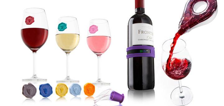 Akcesoria do wina od Vacu Vin - 12 elementów